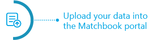 Upload your data into the Matchbook portal